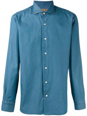 Denim shirt Barba. Цвет: синий