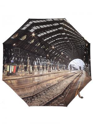 Зонт MOSCHINO. Цвет: черный,антрацитовый,серо-коричневый