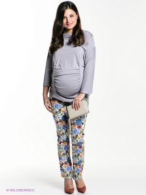 Брюки для беременных 40 недель. Цвет: сиреневый, зеленый, серо-голубой