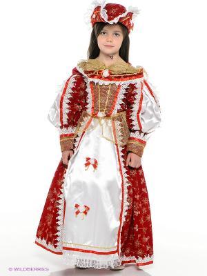 Карнавальный костюм Королева Мушкетеров Батик. Цвет: красный