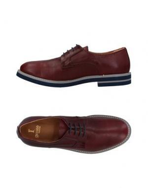 Обувь на шнурках 1° GENITO. Цвет: красно-коричневый