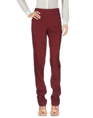 Повседневные брюки OBLIQUE CREATIONS. Цвет: красно-коричневый