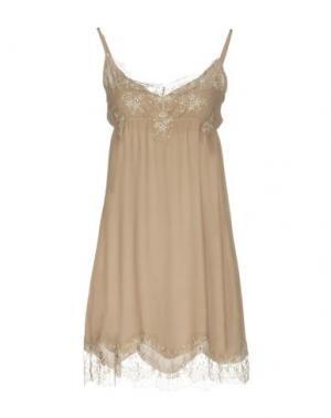Короткое платье PINK MEMORIES. Цвет: хаки
