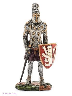 Статуэтка Рыцарь Veronese. Цвет: серебристый, красный, зеленый, сливовый