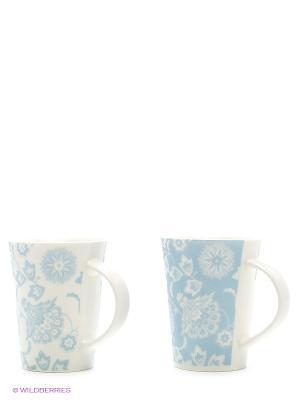 Набор кружек  Цветы бело-голубые Elan Gallery. Цвет: белый, голубой