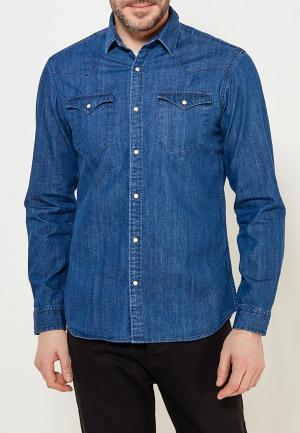 Рубашка джинсовая Selected Homme. Цвет: синий