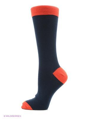 Носки 3 пары Oodji. Цвет: темно-синий, оранжевый