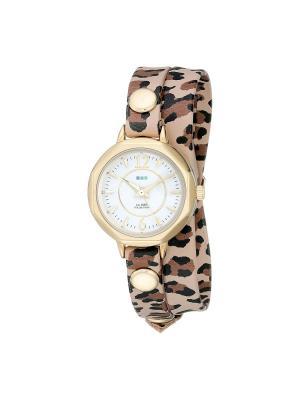 Часы La Mer Collections Del Mar Retro Leopard - Gold. Цвет: черный, бежевый, темно-коричневый