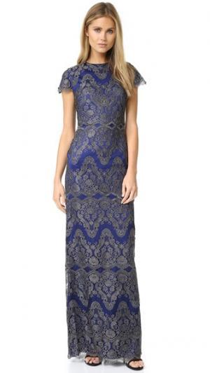 Вечернее платье Godiva Catherine Deane. Цвет: кобальтовый/пушечная бронза