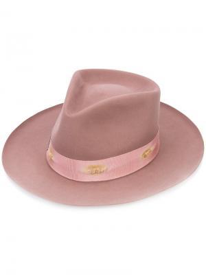 Фетровая шляпа Nick Fouquet. Цвет: розовый и фиолетовый