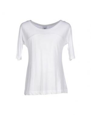 Футболка U CLOTHING. Цвет: белый