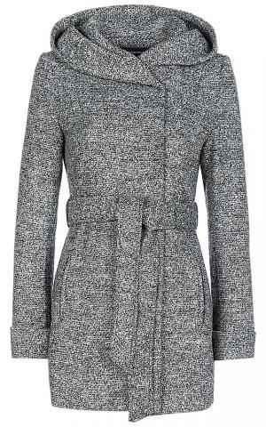 Полушерстяное пальто с капюшоном La Reine Blanche