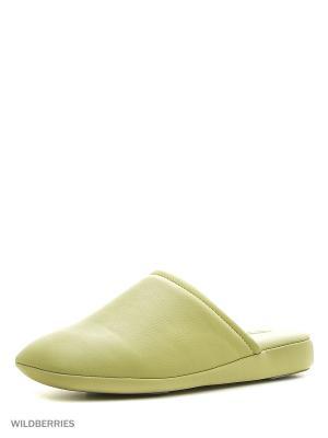 Тапочки Pansy. Цвет: зеленый