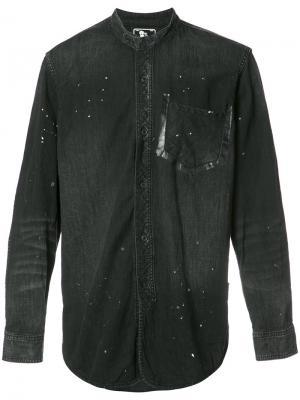 Рубашка с воротником-мандарин Prps. Цвет: чёрный