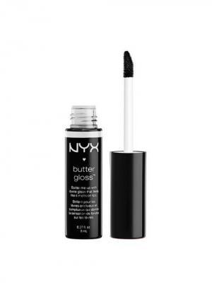Увлажняющий блеск для губ BUTTER LIP GLOSS - BLACKBERRY PIE 30 NYX PROFESSIONAL MAKEUP. Цвет: черный