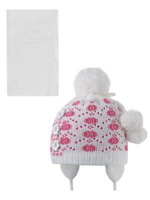 Шапка, шарф Pro-han. Цвет: белый