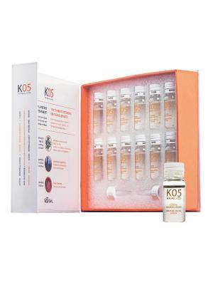 К05 Лосьон для восстановления баланса секреции сальных желез Sebum-Balancing Lotion 12х10мл. Kaaral. Цвет: оранжевый, белый