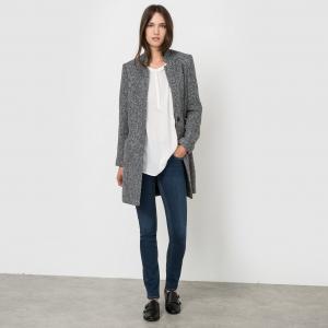 Пальто длинное BEST MOUNTAIN. Цвет: серый