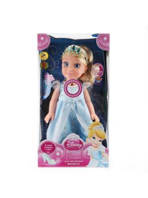 Кукла Карапуз disney princess золушка 37см, на бат. озвуч., светится амулет. Цвет: голубой