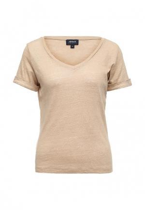 Футболка Armani Jeans. Цвет: коричневый
