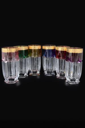 Набор стаканов для воды Bohemia. Цвет: золотой