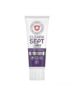 Зубная паста SEA SАLT & LAMINARIA Реминерализация и отбеливание,  ClearaSept 75мл.. Цвет: белый