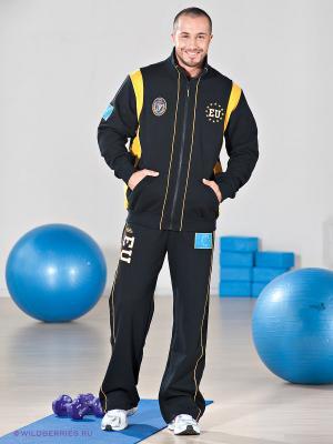Спортивный костюм Forward. Цвет: черный, желтый
