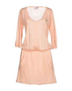 Короткое платье DOLORES PROMESAS HELL. Цвет: лососево-розовый