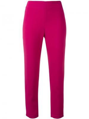 Узкие укороченные брюки Gianluca Capannolo. Цвет: розовый и фиолетовый