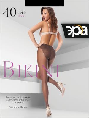 Колготки женские Bikini 40 ЭРА.. Цвет: черный