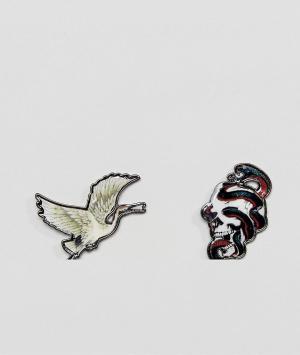 ASOS Набор из 2 значков. Цвет: мульти