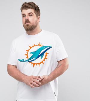 Majestic Футболка с принтом PLUS NFL Miami Dolphins. Цвет: белый