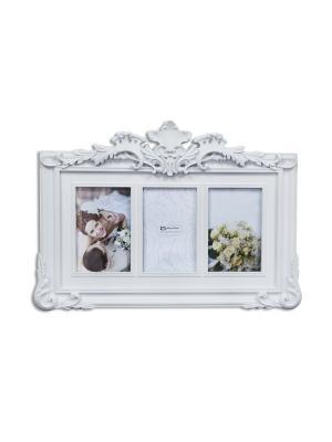 Фоторамка декоративная Нежные воспоминания Magic Home. Цвет: белый