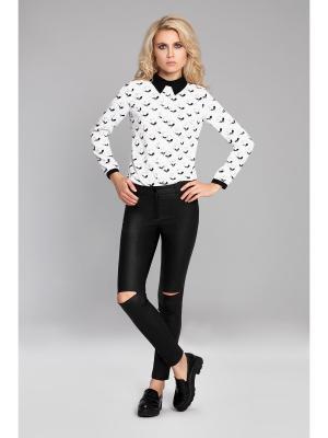 Блузка devita. Цвет: черный, белый