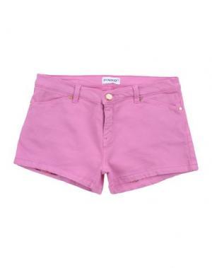 Джинсовые шорты PINKO UP. Цвет: розовый