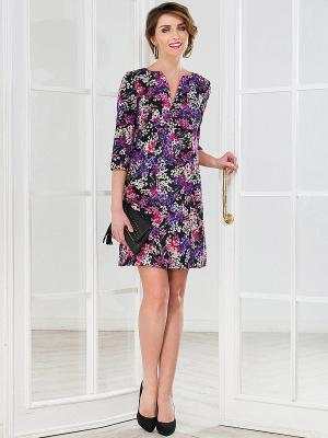 Платье La vida rica. Цвет: фиолетовый, черный