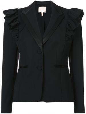 Пиджак с контрастными плечиками Rebecca Taylor. Цвет: чёрный