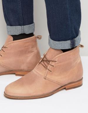 Bobbies Кожаные ботинки на шнуровке Le Monsieur. Цвет: розовый
