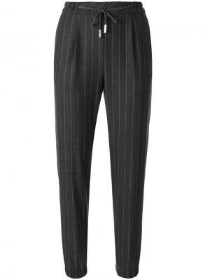 Pinstripe trousers Eleventy. Цвет: серый