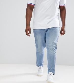 ASOS Голубые рваные джинсы скинни DESIGN Plus. Цвет: синий