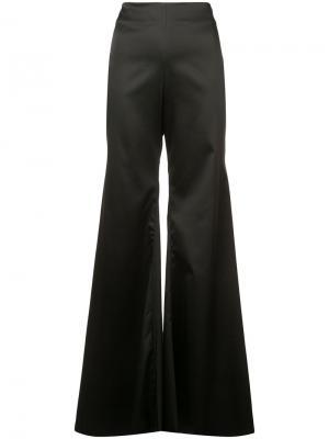 Расклешенные брюки Halpern. Цвет: чёрный