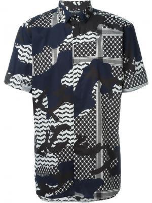 Рубашка со смешанным принтом Neil Barrett. Цвет: многоцветный
