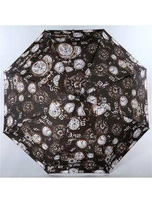 Зонт Trust. Цвет: темно-коричневый, белый, коричневый