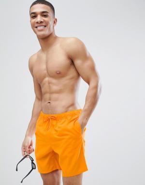 ASOS Оранжевые шорты для плавания средней длины. Цвет: оранжевый