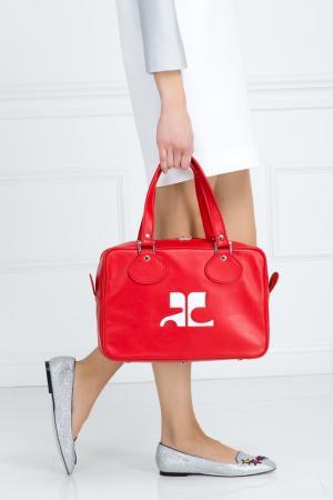 Кожаная сумка Courreges. Цвет: красный