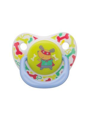 Силиконовая соска-пустышка ортодонтической формы BABY SOOTHER CAT Happy. Цвет: зеленый, серый, голубой, светло-бежевый, красный, желтый, белый