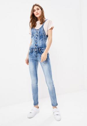 Комбинезон джинсовый Softy. Цвет: голубой