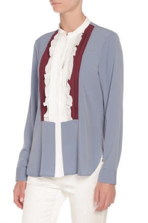Блуза Beatrice. B. Цвет: голубой,рюши