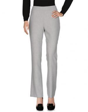 Повседневные брюки GIGUE. Цвет: светло-серый