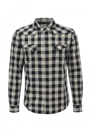 Рубашка Wrangler. Цвет: серый
